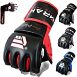 EMRAH Maya Hide Leather Grappling MMA Gloves UFC Cage Fighting Sparring Glove Training F7W
