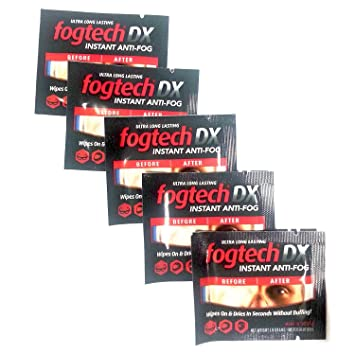 motosolutions fogtech DX antiniebla Toallitas [1, 5, 12, 20 y 100 paquetes