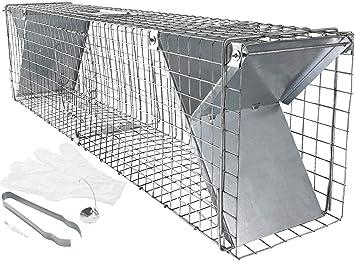 Gran trampa para martas con muchos accesorios, 100 cm. Captura rápida y fácil.