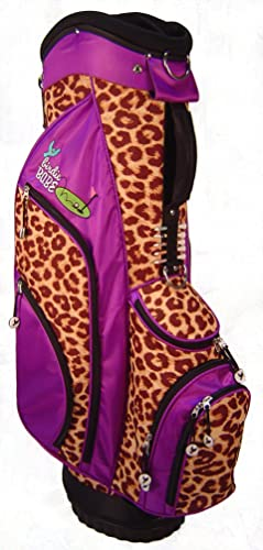 Birdie Babe Womens Golf Bag Purple Leopard Ladies Hybrid Golf Bag Alzheimers Awareness