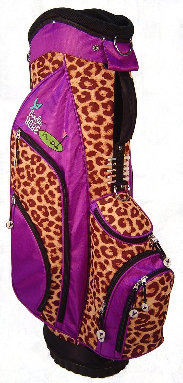 Birdie Babe Womens Golf Bag Purple Leopard Ladies Hybrid Golf Bag Alzheimers Awareness