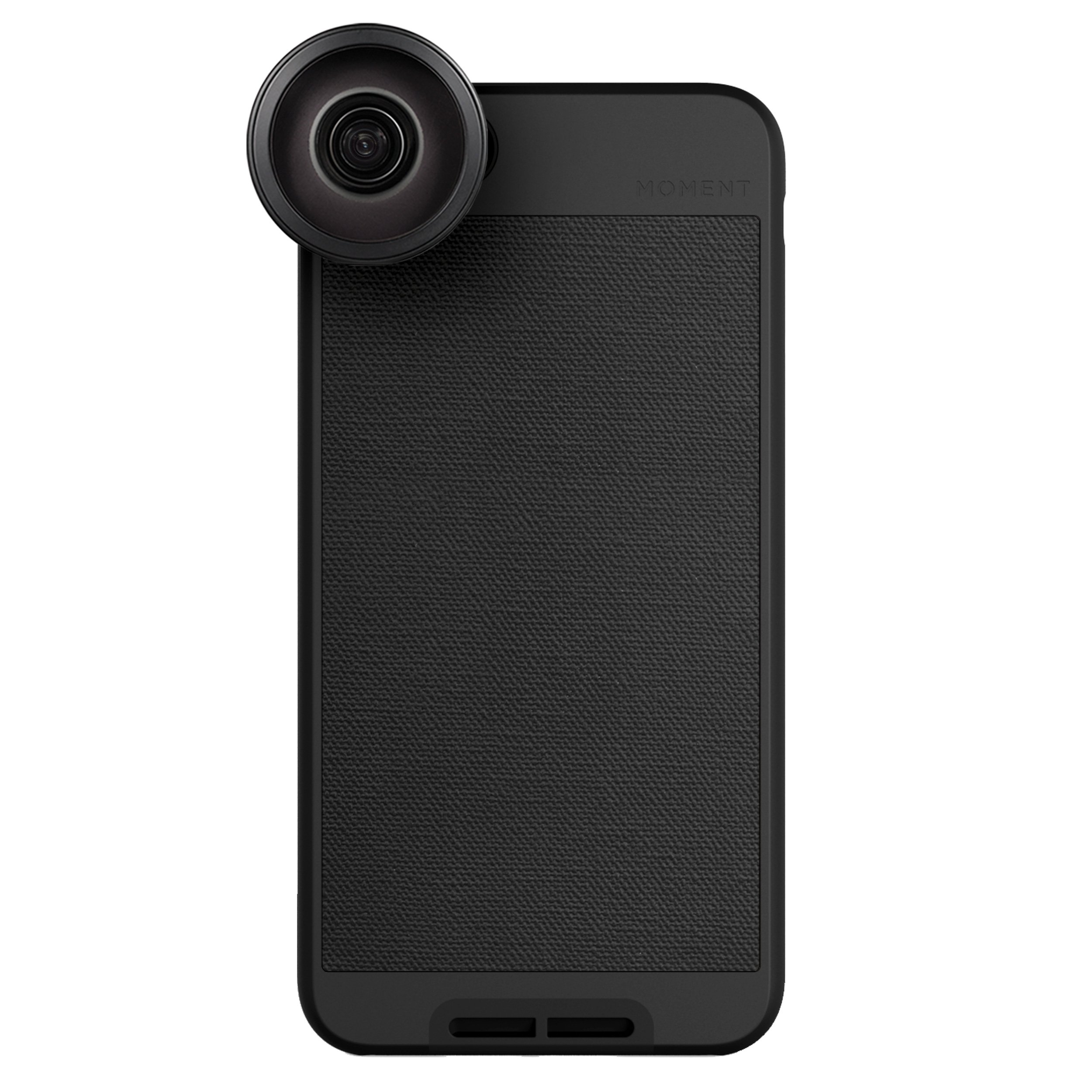 iPhone 8 Plus / iPhone 7 Plus Case with Fisheye Lens Kit || Moment Black Canvas Photo Case plus Superfish Lens || Best iphone fisheye attachment lens with thin protective case.