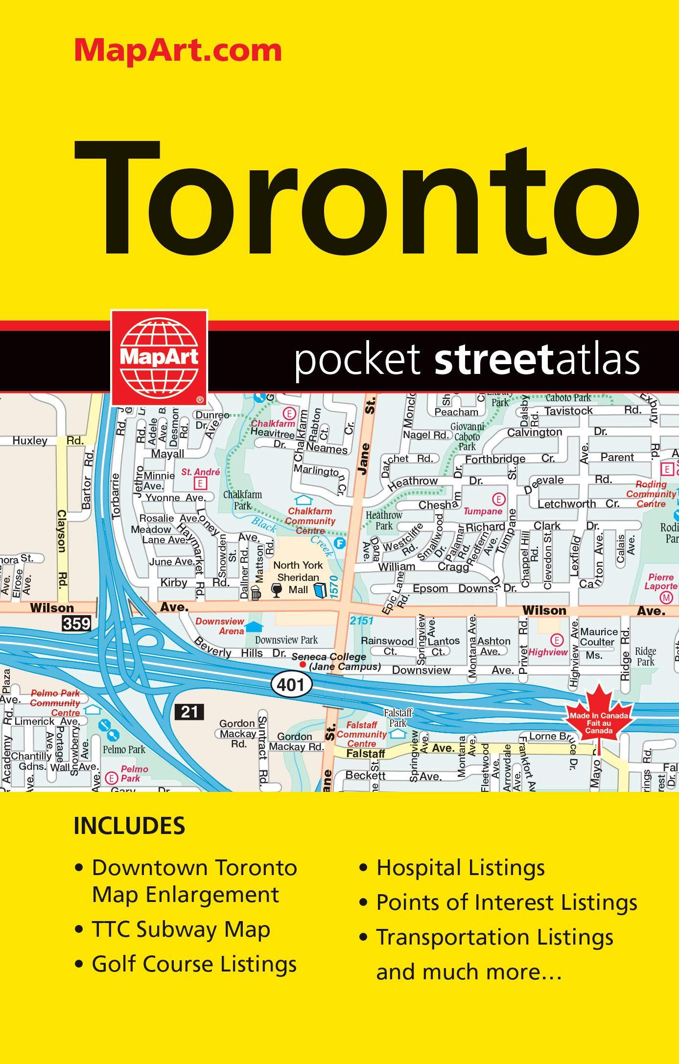 Toronto Subway Map Poster.Toronto On Pocket Street Atlas Mapart Publishing Mapart