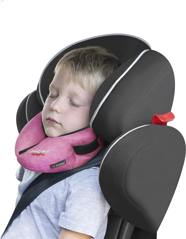 SANDINI SleepFix® Kids Outlast® – Cojín infantil con función de sujeción y compensación de temperatura - Accesorios de asiento infantil - Evita que la cabeza de su hijo caiga mientras duerme