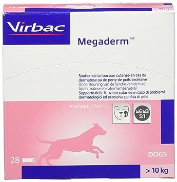Mega Derm monodos ierung 28 x 8 ml para perros y gatos - Omega Contiene 6 y ácidos grasos Omega 3 para colocación de piel y piel: Amazon.es: Productos para ...