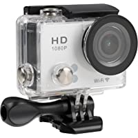 TecPlus Full HD 1080P Wi-Fi 12 MP 140 Degree Wide Angle Lens Waterproof 30 m Helmet Camera Sports Action Camera with Mounting Accessories Kit for Cycling/Surfing/Climbing - White