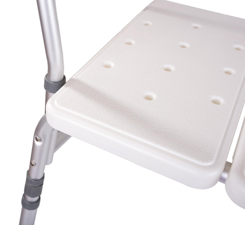 Amazon.com: Medokare Taburete de ducha con asiento acolchado ...
