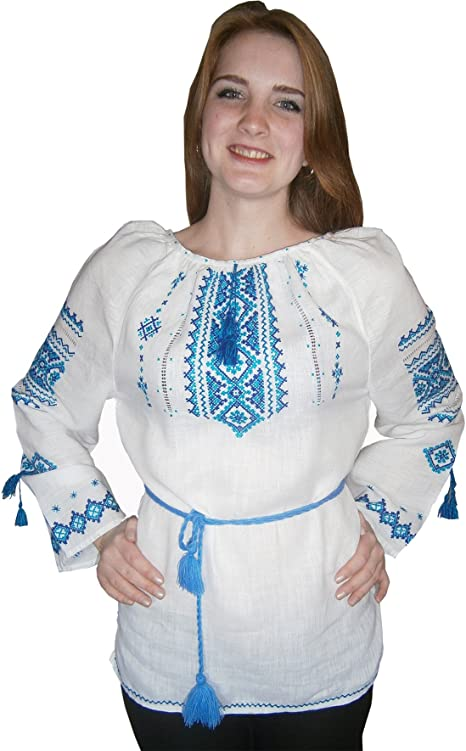 Ukrainian Embroidered Blouse for women Sorochka Vyshyvanka S-XXL Tradition shirt