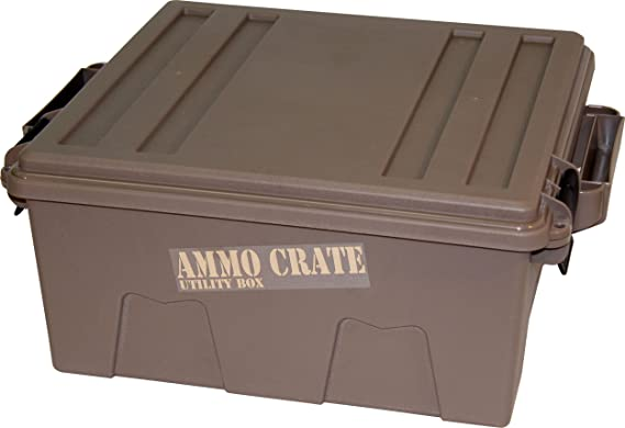 Military Ammo Crate Utility Box Ammunition Storage Container Bulk Heavy Duty Can