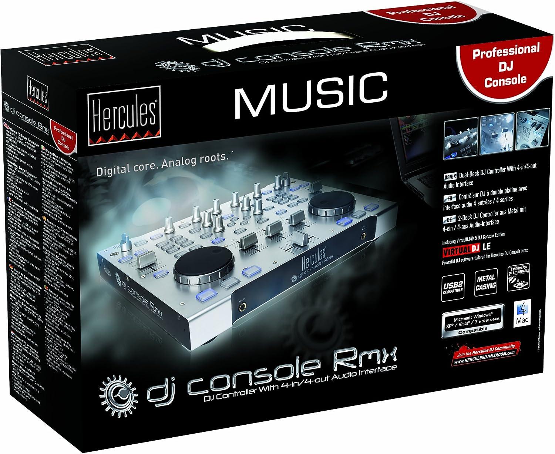Hercules 4780474#4780507 - Controlador de DJ (4 canales): Amazon ...