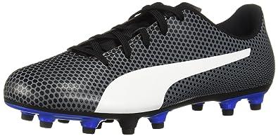 41867bee2edc51 PUMA Spirit FG Jr Soccer Shoe Black White-Iron gate-Royal Blue