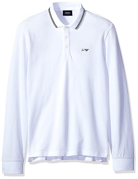 0eaf6562b ARMANI JEANS Mens Slim Fit Long Sleeve Pique Polo Shirt: Amazon.ca: Clothing  & Accessories