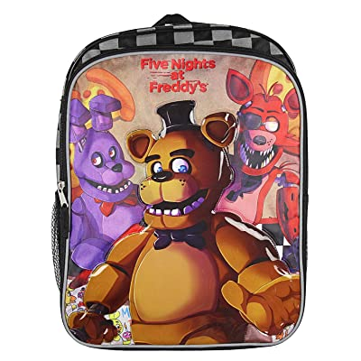 "Five Nights at Freddy's 16"" Backpack with Side Mesh Pockets 