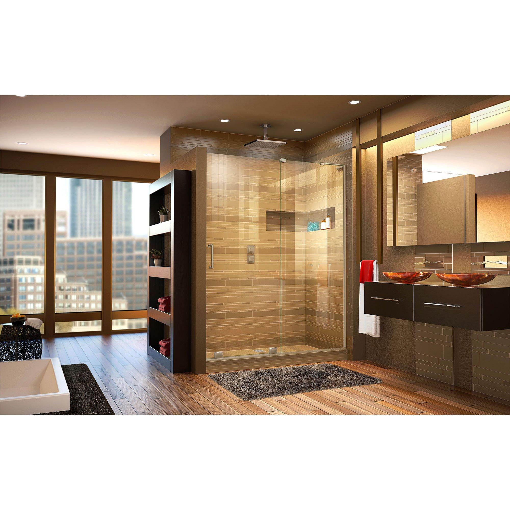 DreamLine Mirage-X 56-60 in. Width, Frameless Sliding Shower Door, 3/8'' Glass, Brushed Nickel Finish by DreamLine (Image #3)