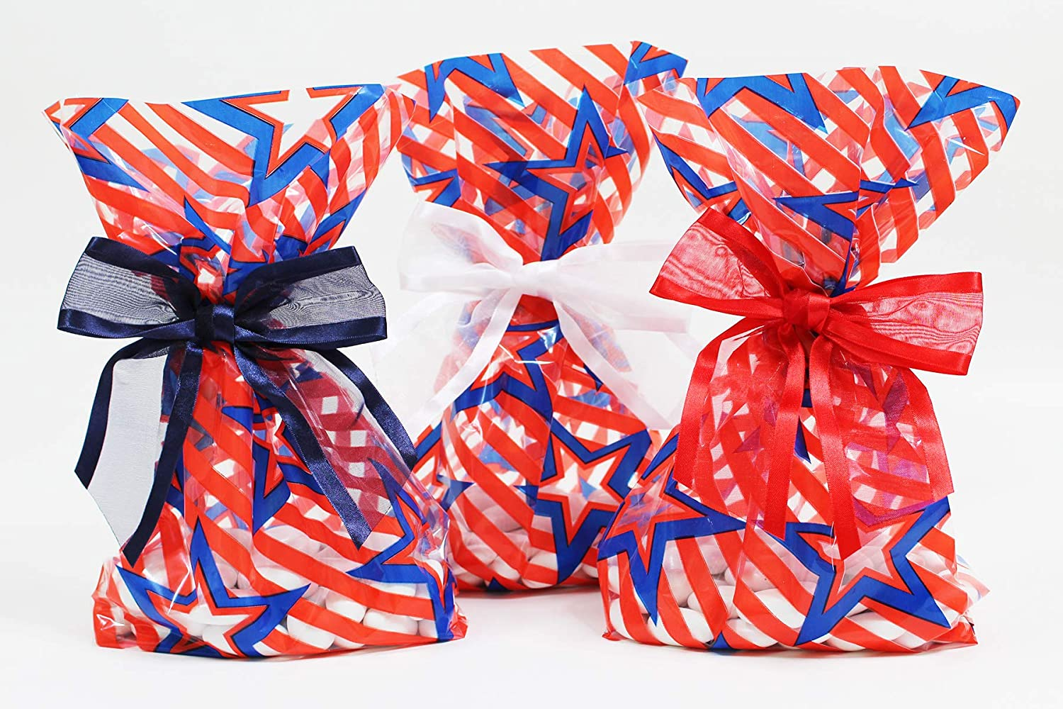 Party bags Self-adhesive bags Cello Bags Gift Bags Set of 20 bags Red bags Cookie bags Red Sprinkles Favors Bags