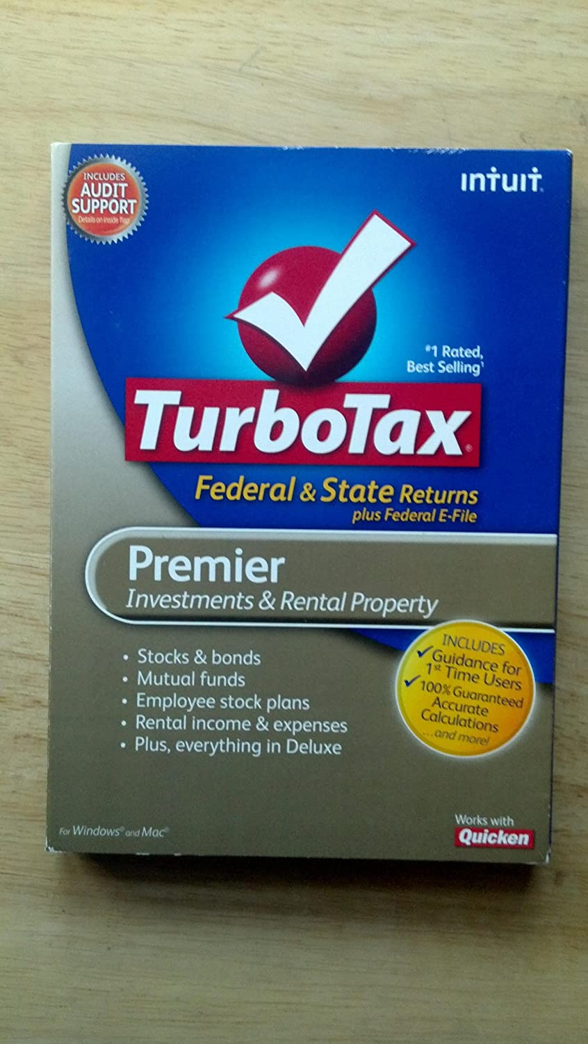 TurboTax Premier Federal + eFile + State 2010 (PC and Mac)