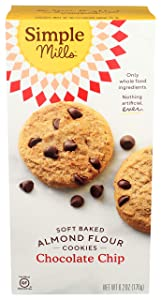 Simple Mills Almond Flour Chocolate Chip Cookies, Gluten Free and Delicious Soft Baked Cookies, Organic Coconut Oil, Good for Snacks, Made with whole foods, (Packaging May Vary)