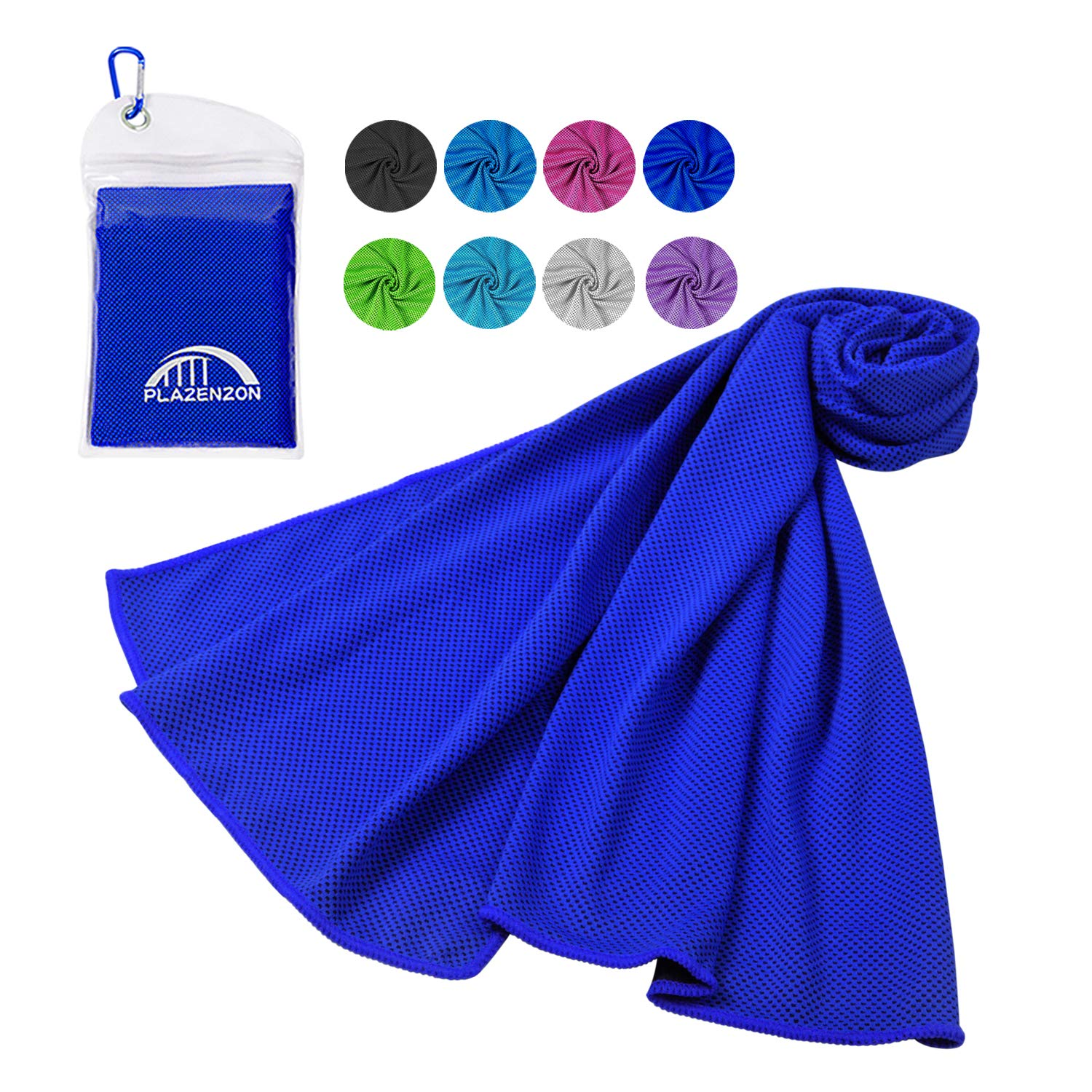 Plazenzon Cooling Towel (47 x 12 Inch), Longer Instant Relief Cool Towel, Use as Cooling Neck Wrap, Soft Breathable Chilly Towel for Golf Athletes Gym Travel Camp Workout