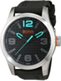 BOSS Orange Herren-Armbanduhr PARIS Analog Quarz Silikon 1513377