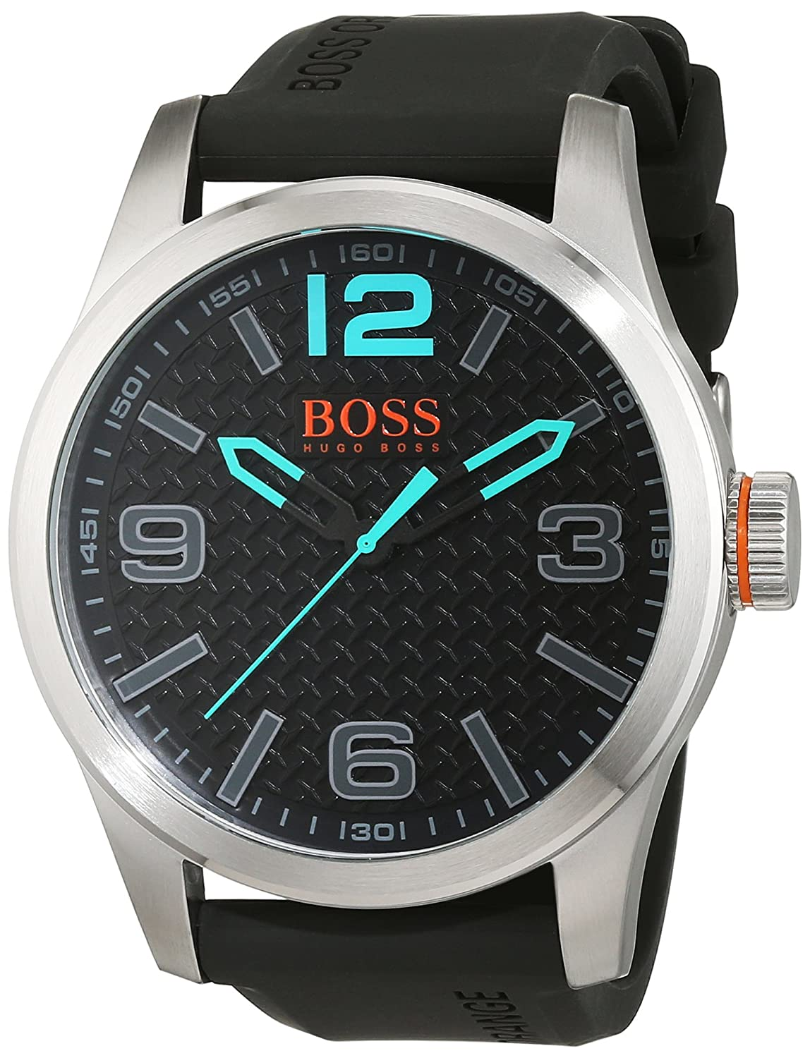 BOSS Orange Herren-Armbanduhr PARIS Analog Quarz Silikon 1513377
