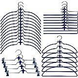 Cascading Hangers Closet Organizers - Pack of 30, Blue