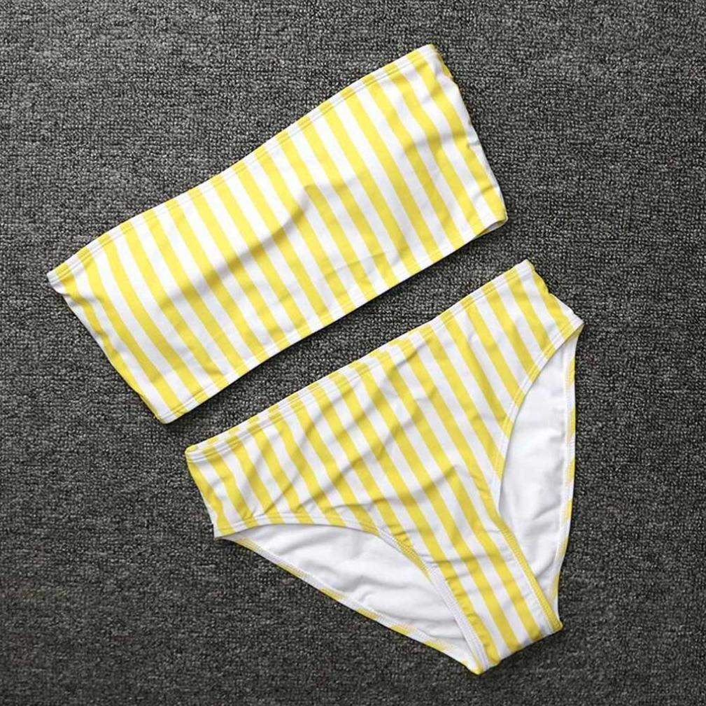 ❤ Bikini de rayas de las mujeres conjunto push-up acolchado traje de baño bañador de baño ropa de playa ABsolute: Amazon.es: Ropa y accesorios