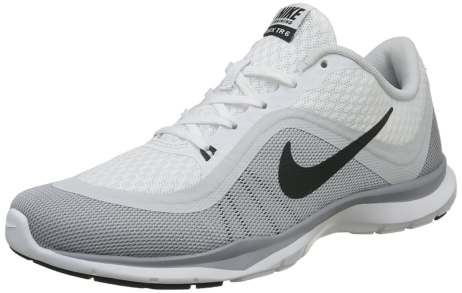 NIKE Women's Flex Trainer 6 B014IDLDQY 9 B(M) US|White/Dark Grey