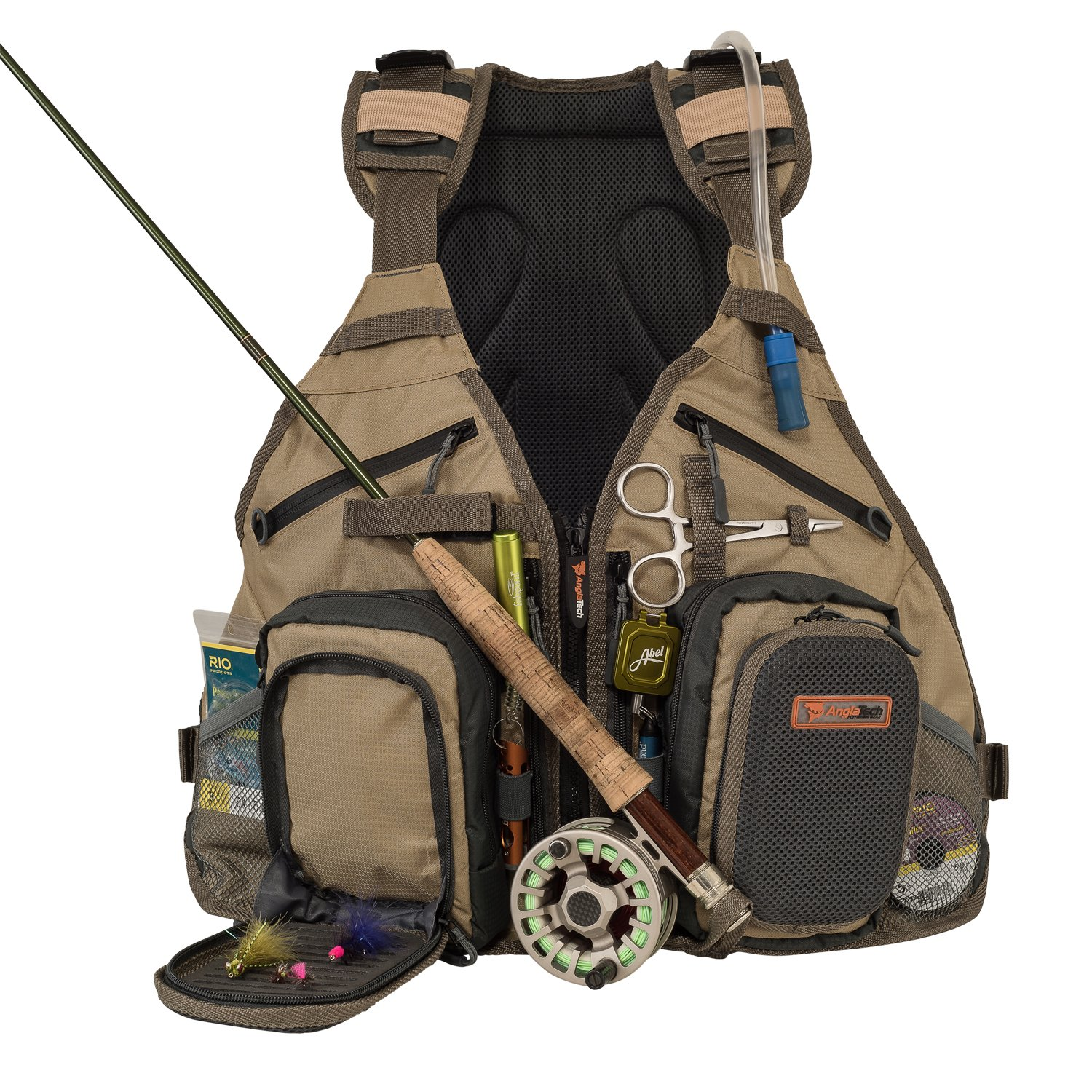 Anglatech fly fishing backpack and vest combo with 1 5 for Fly fishing backpack