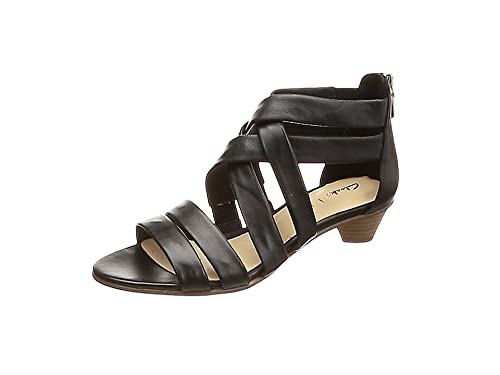e6af6a57a09f Clarks MENA Silk Leather Sandals in Black  Amazon.co.uk  Shoes   Bags