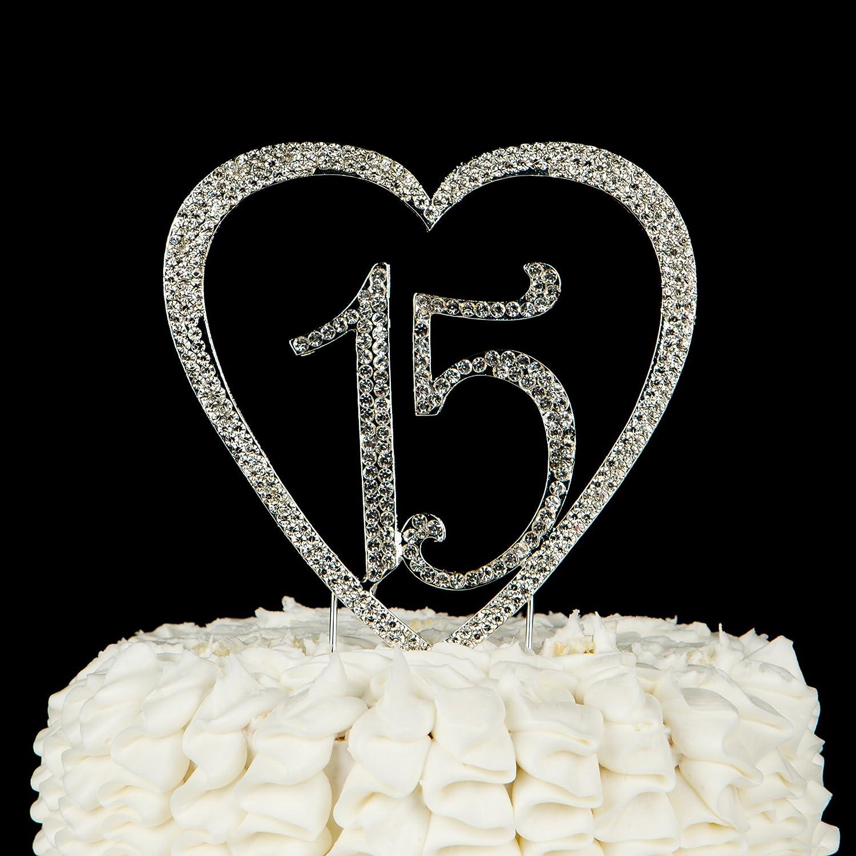 Amazon 15 Heart Cake Topper 15th Birthday Quinceaera