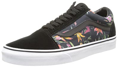 UK Shoes Store - Vans OLD SKOOL U BLACK BLOOM Sneakers Unisex Basses