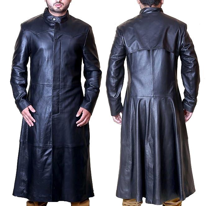 Superior Leather Garments SLG Matrix Movie Neo da Uomo in Vera Pelle Nera  Giacca Cappotto  Amazon.it  Abbigliamento 776f7f8d40c
