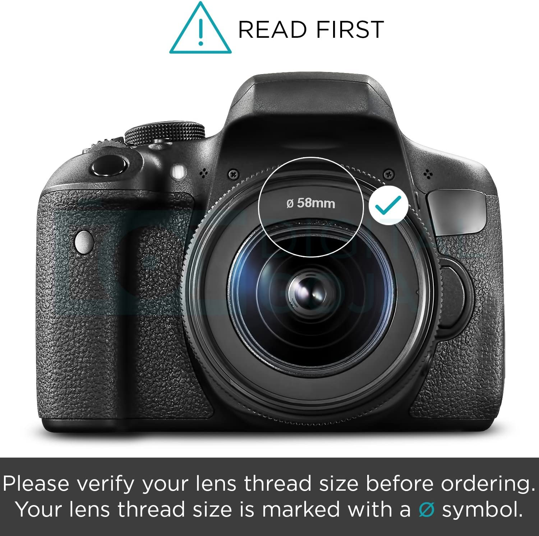 Flower Design + Nw Direct Microfiber Cleaning Cloth. 55mm Nikon D3400 Pro Digital Lens Hood
