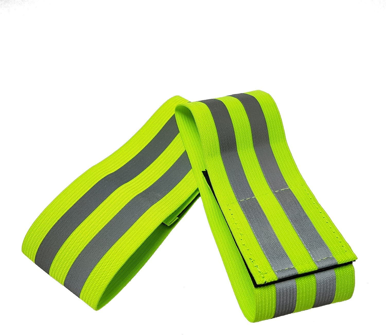 ideal para adultos y ni/ños ciclismo y seguridad en las actividades al aire libre Brazaletes reflectantes con con gancho y cierre de velcro senderismo para correr