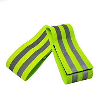 vendita usa online forma elegante in vendita Alta visibilità riflettente corsa Armband – alta visibilità elastico  Armband/caviglia fasce con chiusura in velcro, per correre, camminare,  ciclismo e ...