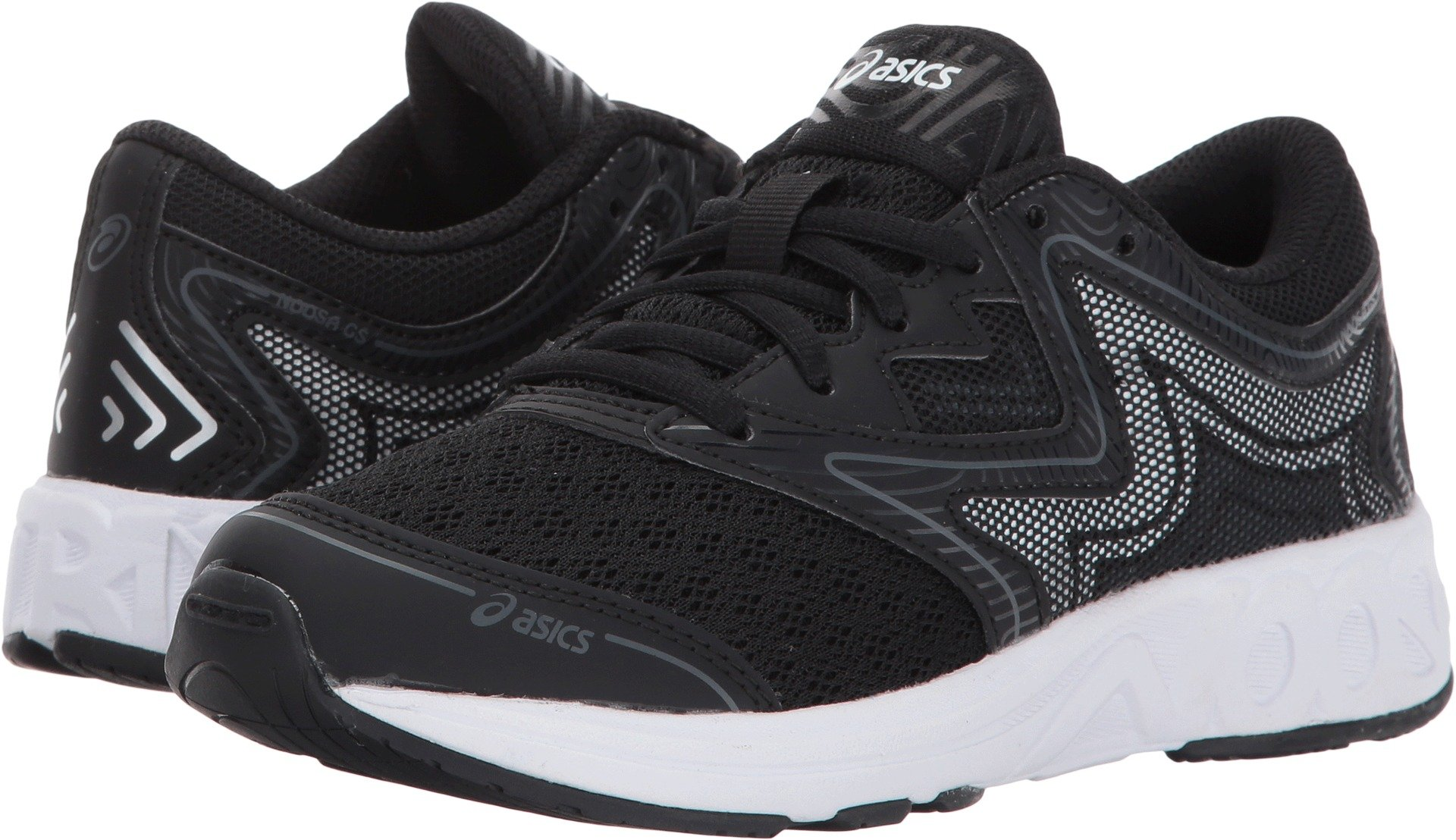 ASICS Unisex-Kids Noosa GS Running Shoe, Black/Carbon/Mid Grey, 4 Medium US Big Kid