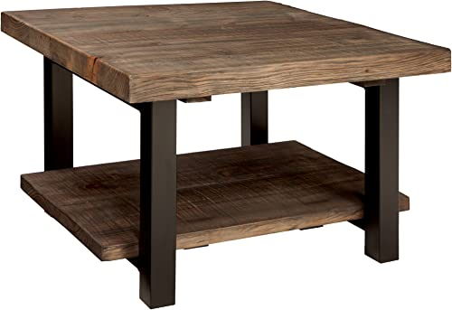 Alaterre AZMBA1320 Sonoma Rustic Natural Cube Coffee Table, Brown, 27