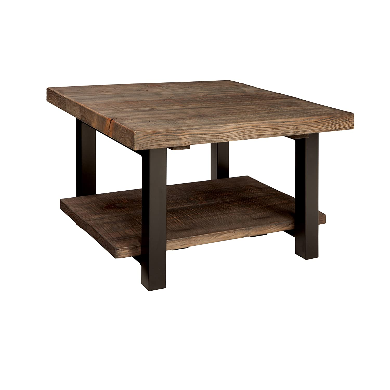 "Alaterre AMBA1320 AZMBA1320 Sonoma Rustic Natural Cube Coffee Table, Brown, 27"","