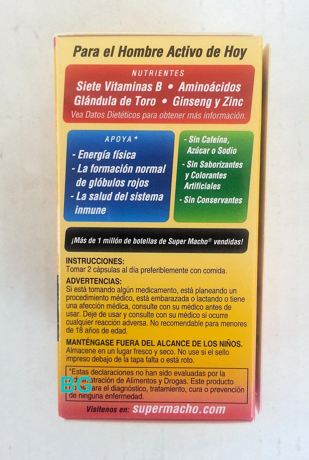 Amazon.com : Super Macho Advanced Energizing Formula, 50 Softgels : Other Products : Everything Else