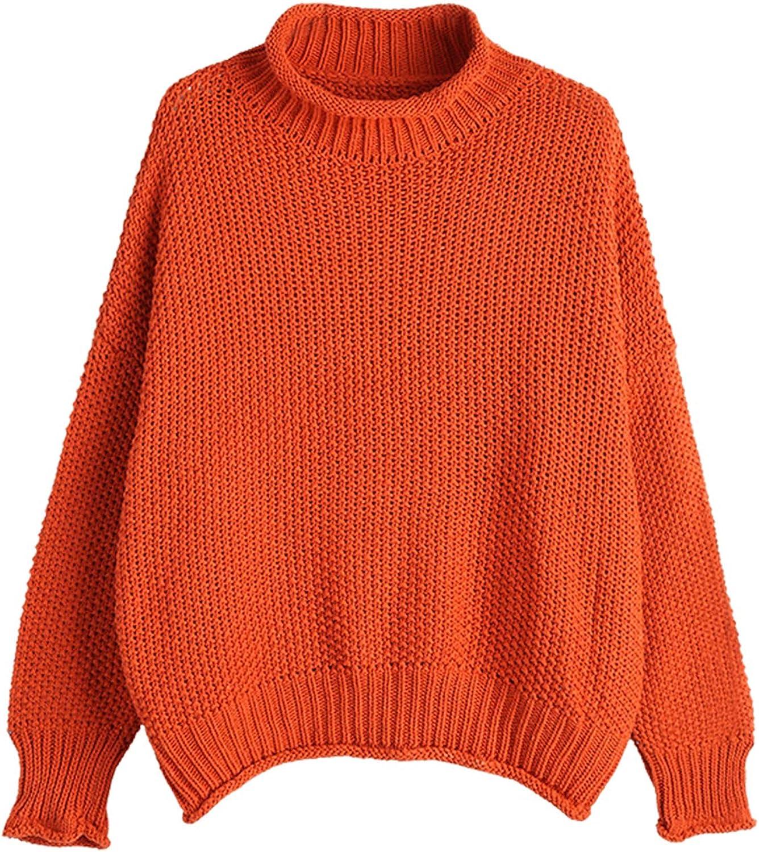 KENANCY Women¡s Turtleneck Sweater Knit Batwing Pullover Oversized Jumper Top