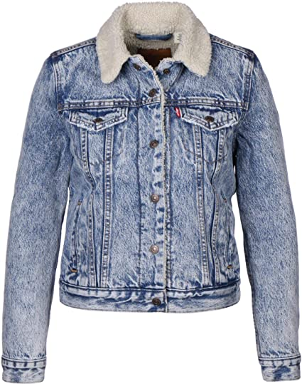 fb48e805e671 Levi s Women s Denim Jacket Original Sherpa Trucker Wild Thing   Amazon.co.uk  Clothing