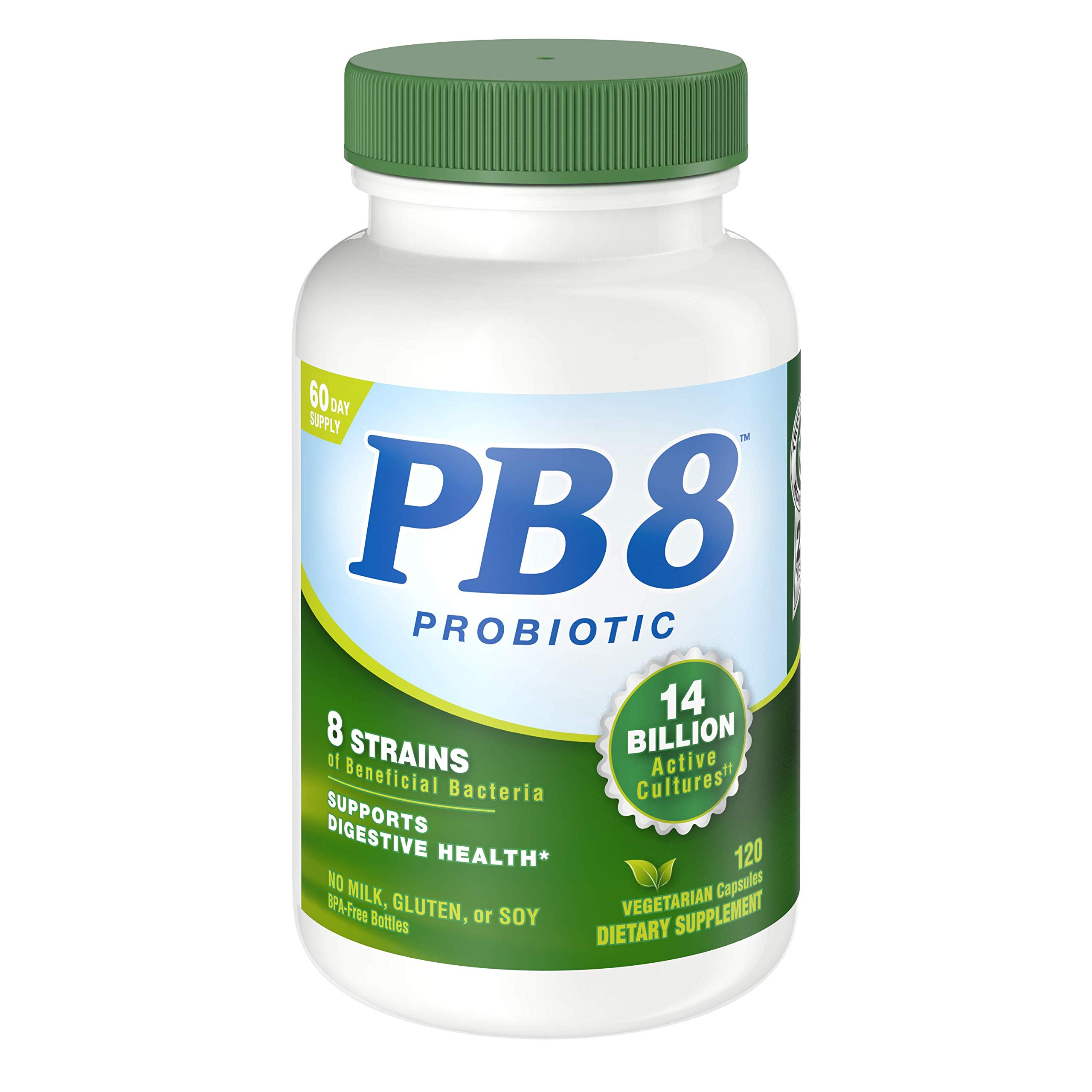Nutrition Now PB 8 Probiotic Acidophilus For Life* Vegetarian Dietary Supplement for Men and Women, 120 Count
