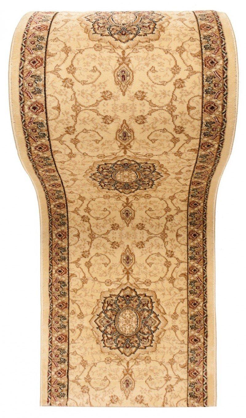 WE LOVE RUGS CARPETO Läufer Teppich Teppich Teppich Flur in Beige - Orientalisch Muster - 3D-Effekt Dichter und Dicker Flor - Läuferteppich nach Maß - ISKANDER Kollektion 120 x 400 cm B079FW47B2 Lufer 277534