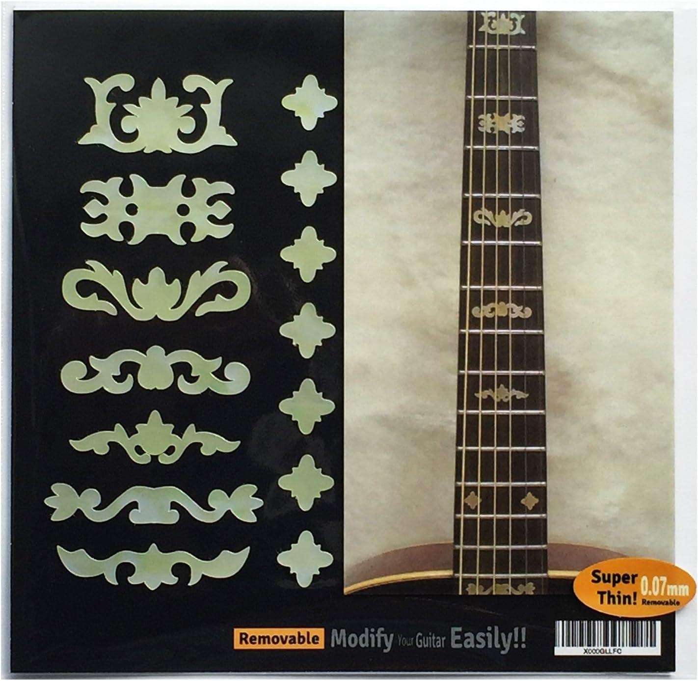 Adhesivo decorativo para guitarra y bajo, diseño con ...