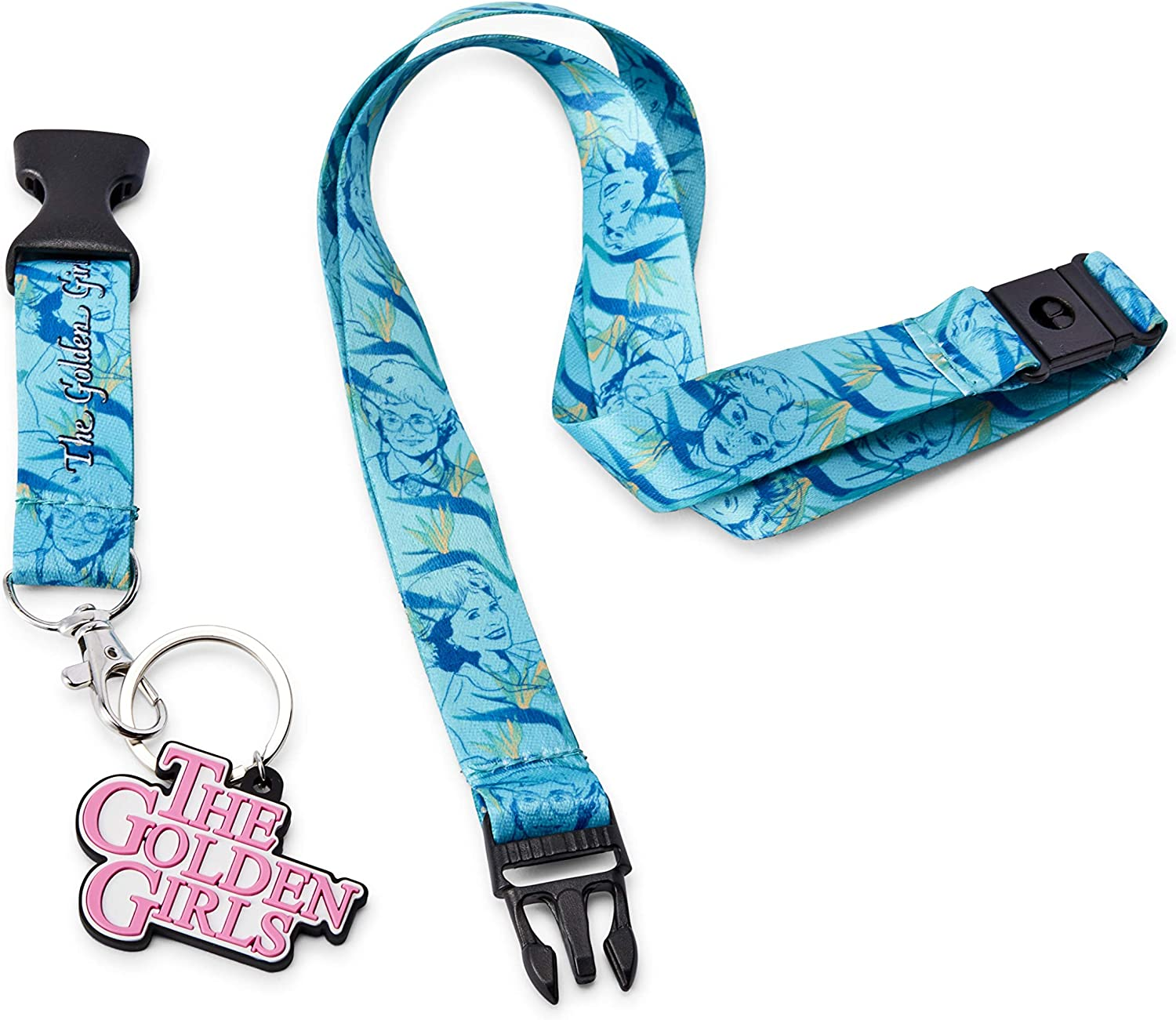 JUST FUNKY The Golden Girls Scented Break-Away Lanyard with Charm Official Golden Girls Collectible Lanyard Lavender Scented