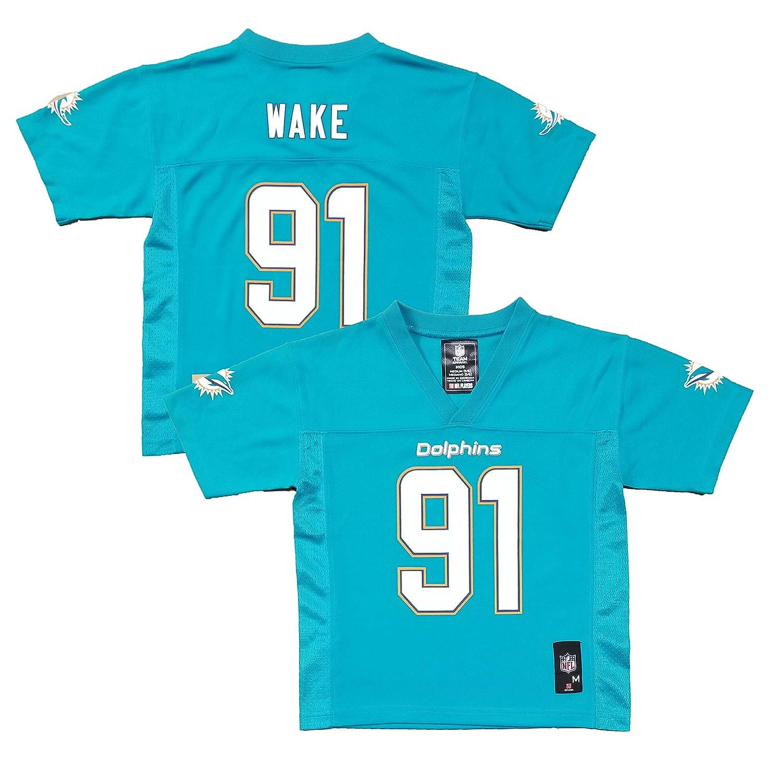 super popular a10a7 1436d OuterStuff Cameron Wake Miami Dolphins Aqua #91 Kids 4-7 Mid ...