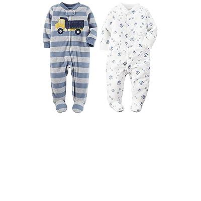 Carter's Baby Boy's 2 Pack Soft Fleece Footie Pajamas