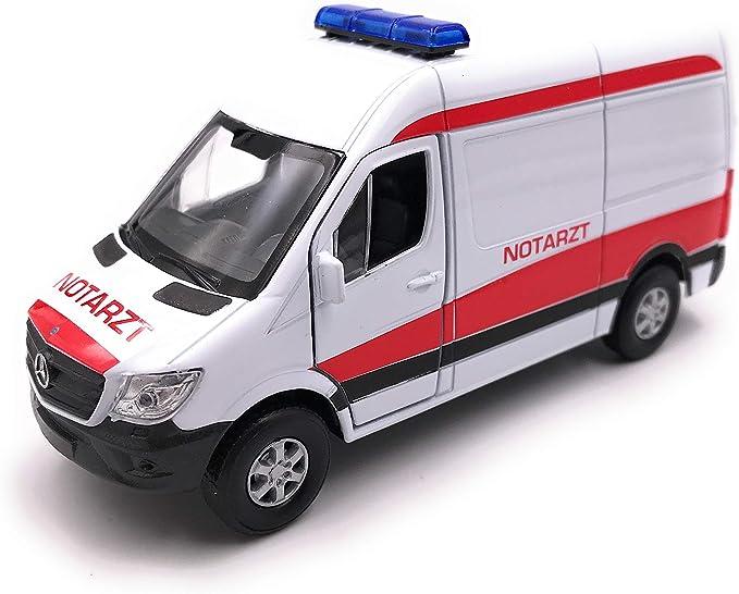 Onlineworld2013 Modellauto Sprinter Notarzt Weiss Auto Maßstab 1 34 39 Lizensiert Auto