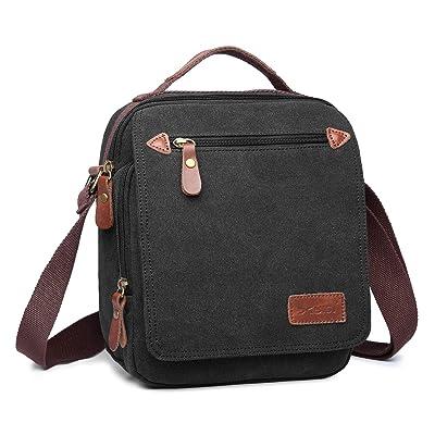 Inmount Messenger Bag Canvas Shoulder Bag Wear-resistant Satchel Small Crossbody Bag For Men