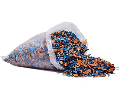 Sharpex Garden Decor Deko Chip Bag (1 kg, Blue and Gold)